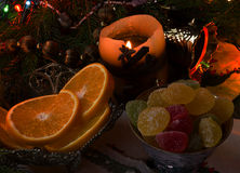 Sappige sinaasappelen Royalty-vrije Stock Foto's