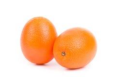 Sappige sinaasappelen op een witte achtergrond Royalty-vrije Stock Foto