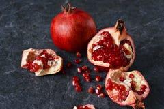 Sappige, verse granaatappels Royalty-vrije Stock Afbeelding