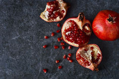 Sappige, verse granaatappels Royalty-vrije Stock Foto
