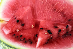Sappige watermeloen Royalty-vrije Stock Afbeeldingen