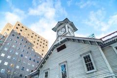 Sapporo, Ιαπωνία, στις 2 Ιανουαρίου 2018: Ο πύργος ρολογιών Sapporo είναι ένας ξύλινος Στοκ φωτογραφία με δικαίωμα ελεύθερης χρήσης