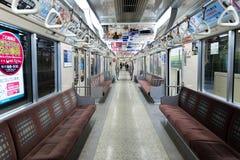 SAPPORO, ΙΑΠΩΝΙΑ - 13 ΙΑΝΟΥΑΡΊΟΥ 2017: υπόγειο τραίνο σε Sapporo Στοκ Εικόνα