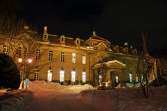 Sapporo City Archives Museum 1. Sapporo City Archives Museum on a winter night royalty free stock images