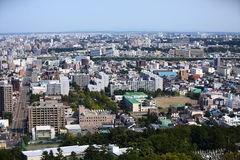 Sapporo City. The beautiful scenery of the Sapporo city from the Moiwayama Mountain Royalty Free Stock Image