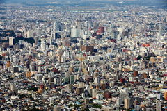 Sapporo City. The beautiful scenery of the Sapporo city from the Moiwayama Mountain Stock Image