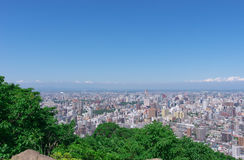 Sapporo city view Royalty Free Stock Image