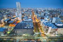 Sapporo Cityscape Arkivfoto