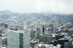 Sapporo en invierno Imagenes de archivo