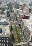 Sapporo Fernsehkontrollturm Stockbilder