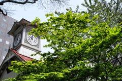 Sapporo, Giappone alla torre di orologio di Sapporo Immagini Stock