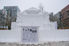 Sapporo, Giappone - febbraio 2017: Il sessantottesimo festival di neve di Sapporo al parco di Odori Immagine Stock