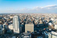 SAPPORO hokkaido JAPONIA, NOV 2018: Sapporo pejzażu miejskiego widok od Sapporo jr wierza obrazy royalty free