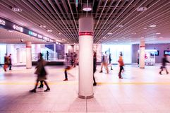 Sapporo - Hokkaido vibrant Odori underground shopping mall royalty free stock photography