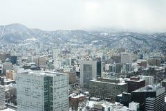 Sapporo i vinter Arkivbilder