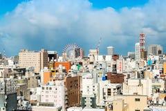 SAPPORO, JAPÃO - 22 de dezembro de 2015: Opinião da rua do aro das construções Imagens de Stock