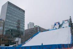 Sapporo, Japão - em fevereiro de 2017: O 68th festival de neve de Sapporo no parque de Odori Foto de Stock