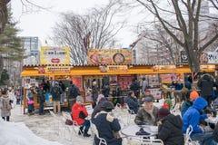 Sapporo, Japão - em fevereiro de 2017: O 68th festival de neve de Sapporo no parque de Odori Imagem de Stock Royalty Free