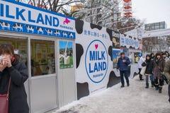 Sapporo, Japão - em fevereiro de 2017: O 68th festival de neve de Sapporo no parque de Odori Fotos de Stock