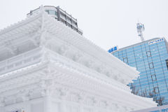 Sapporo, Japão - em fevereiro de 2017: O 68th festival de neve de Sapporo no parque de Odori Foto de Stock Royalty Free