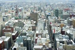 Sapporo, Japão no inverno foto de stock