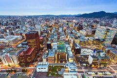 Sapporo Japan. Sapporo, Japan cityscape at the Central Ward royalty free stock image