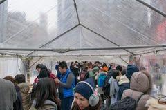Sapporo, Japan - Februar 2017: Das 68. Sapporo-Schnee-Festival an Odori-Park Lizenzfreie Stockfotos