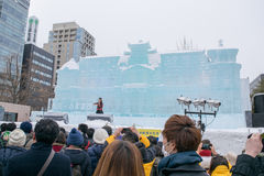 Sapporo, Japan - Februar 2017: Das 68. Sapporo-Schnee-Festival an Odori-Park Lizenzfreies Stockfoto