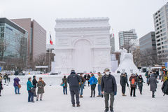 Sapporo, Japan - Februar 2017: Das 68. Sapporo-Schnee-Festival an Odori-Park Stockfotos