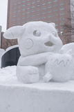 Sapporo, Japan - Februar 2017: Das 68. Sapporo-Schnee-Festival an Odori-Park Stockfotografie