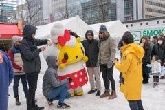 Sapporo, Japan - Februari 2017: Het 68ste Sapporo-Sneeuwfestival bij Odori-Park stock afbeelding