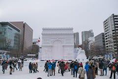 Sapporo, Japan - Februari 2017: Het 68ste Sapporo-Sneeuwfestival bij Odori-Park royalty-vrije stock foto
