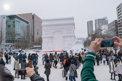 Sapporo, Japan - February 2017: The 68th Sapporo Snow Festival at Odori Park Royalty Free Stock Images