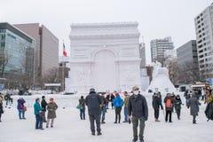 Sapporo, Japan - February 2017: The 68th Sapporo Snow Festival at Odori Park Stock Photos