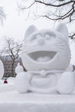 Sapporo, Japan - February 2017: The 68th Sapporo Snow Festival at Odori Park royalty free stock photos
