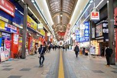 SAPPORO, JAPAN - JAN 13, 2017: Tanukikoji Street view of Building Royalty Free Stock Images