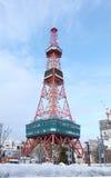 Sapporo, Japan - januari 20, 2017: Mening van de Sapporo-Toren van TV Royalty-vrije Stock Foto