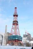 Sapporo, Japan - januari 20, 2017: Mening van de Sapporo-Toren van TV Stock Afbeelding