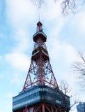 Sapporo, Japan - januari 20, 2017: Mening van de Sapporo-Toren van TV Stock Fotografie