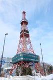 Sapporo, Japan - januari 20, 2017: Mening van de Sapporo-Toren van TV Stock Foto's