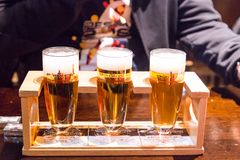 Sapporo, Japan, January 28, 2018:  Sapporo Beer Museum is popula. R tourist attraction. Sampling of different beer brew avaiable for a token Stock Photos