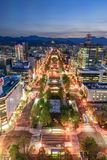 Night view of Sapporo cityscape Stock Photos