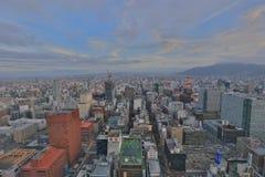 Sapporo, Japan-Stadtbild im zentralen Bezirk Lizenzfreies Stockbild