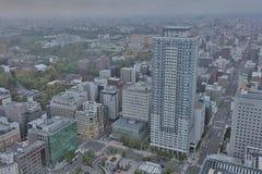 Sapporo, Japan-Stadtbild im zentralen Bezirk Lizenzfreies Stockfoto