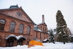 Sapporo, Japon - 14 janvier 2017 : Vue du musée de bière de Sapporo C'est le seul musée de bière au Japon Images libres de droits
