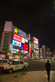SAPPORO, JAPON - 24 juillet rue d'achats de Susukino le 24 juillet, 20 Photographie stock libre de droits