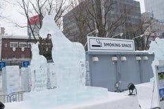 Sapporo Japonia, Luty, - 2017: 68th Sapporo śniegu festiwal przy Odori parkiem Obrazy Stock