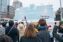 Sapporo Japonia, Luty, - 2017: 68th Sapporo śniegu festiwal przy Odori parkiem Obraz Royalty Free