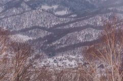Sapporo mounter view in winter Royalty Free Stock Images