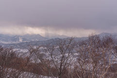 Sapporo mounter view in winter Royalty Free Stock Photography